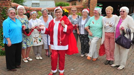Zoiyar Cole and Janet Ellis hold a Christmas fayre to raise funds for the Paul Cole Cancer fund.Sant