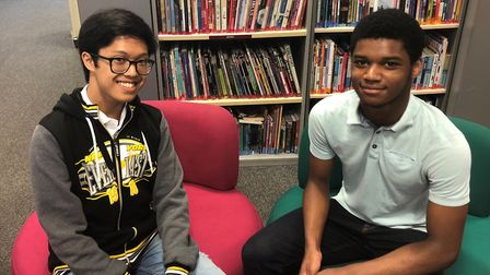Malachi Castro, left, and Charles Morton have won scholarships to the City of London School. Pic: To