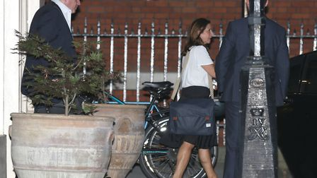 Boris Johnson and his wife Marina Wheeler leaving Carlton House Terrace in Westminster after he resi