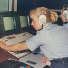 Working with video equipment, circa 1990. Pic: Crown Copyright, courtesy of the RAF Museum