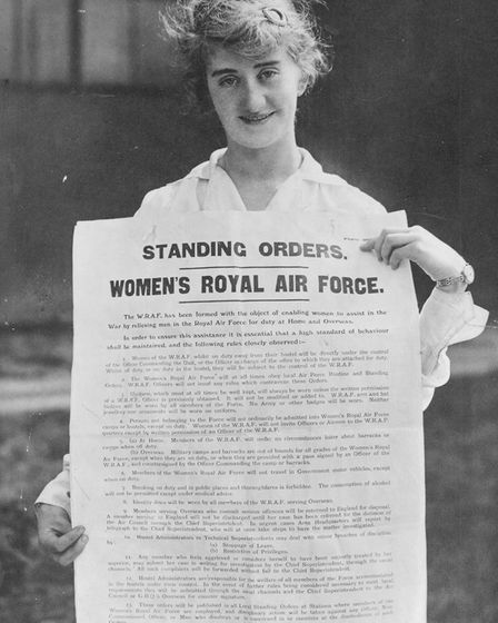 Standard Orders poster for the Women's Royal Air Force, 1918. Pic: Crown Copyright, courtesy of the