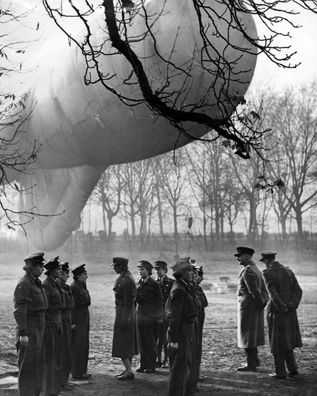 Barrage balloon crew under inspection, November 1943. Pic: Crown Copyright, courtesy of the RAF Muse