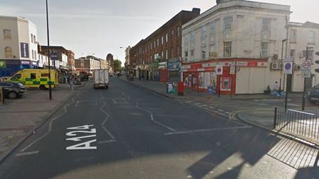 The man was found in Barking Road Picture: Google Maps
