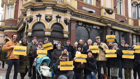 Locals are campaiging to save the Earl of Essex pub from redevelopment into flats. Pic: Ken Mears