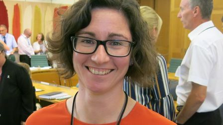 Lydia Fenny at the all party parliamentary group on brain tumours. Picture: Picasa