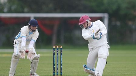 Ronnie Jackson in batting action for Rainham away to Goresbrook in the T-Rippon Mid-Essex League Pre