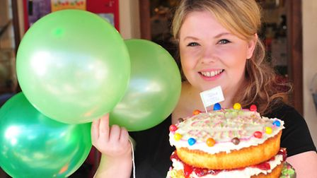 The shed Cafe, Henstead Macmillan Coffee morning.Cafe owner Ellen Winser.