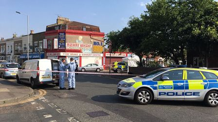 Three people were arrested on suspicion of attempted murder after a shootout in Forest Gate. Picture