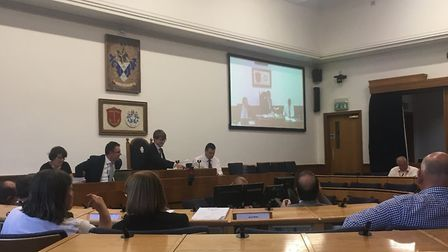 The budget being discussed at the Havering Council cabinet meeting last night. Photo: Liam Coleman