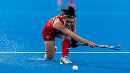 England's Laura Unsworth during the Vitality Women's Hockey World Cup (pic Paul Harding/PA)