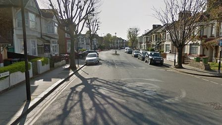 The police raid took place in Central Park Road. Pic: Google