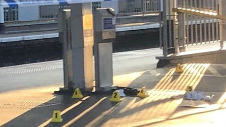 Police tape on the platform at Barking station. Picture: @BSF_92