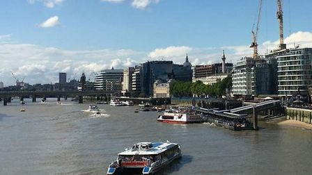 The River Bus making the journey through central London. Picture: London Assembly