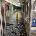 Water flooded into the Stratford Centre. Picture: London Fire Brigade