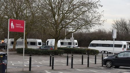 Travellers have forced the closure of Tesco Extra in Rainham