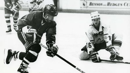 Rob Stewart in action for Romford Raiders in the early 1990s