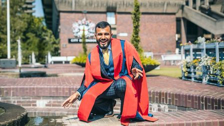 Poet Hussain Manawer becomes Kings College London's youngest Honorary Fellow. Picture: Illustrious M