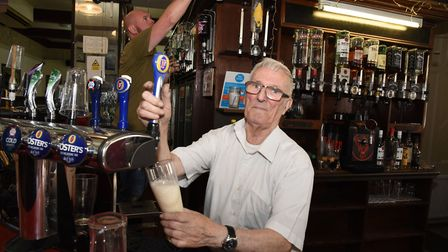 Ron has pulled pints for 40 years.