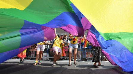 The victim had attended the Pride in London parade in central London. Pic: PA/John Stillwell