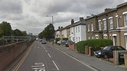 The alleged indecent exposure was carried out in Forest Lane on August 8. Pic: GOOGLE