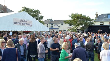 Large crowds gathert at the Pakefield Beer Festival. Pictures: MICK HOWES