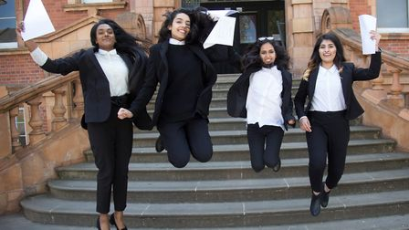 Gravity-defying teens... must be A-level Results Day. Picture: Nick Edwards