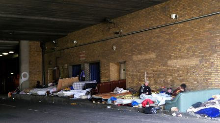 Mattresses and sofas line the pavement in Havelock Street, Ilford. Photo: Aaron Walawalkar