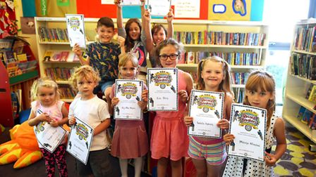Kessingland Library summer reading challenge presentation to the children who took part in the recor