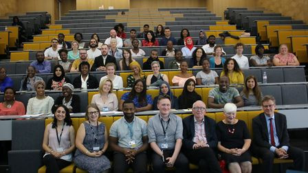 The University of East London's New Beginnings graduation class Picture: UEL