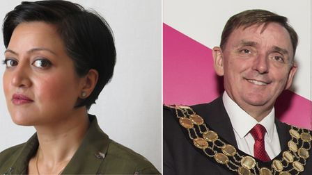The current mayor of Newham, Rokhsana Fiaz, appeared to blame former mayor Sir Robin Wales for the s
