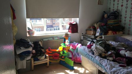 The bedroom shared by two of Isabel's daughters. Picture: Emma Youle