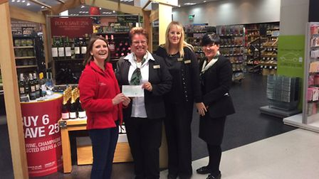CHARITY DONATION: The Marks and Spencer (M&S) Lowestoft store presented a cheque to the East Anglian