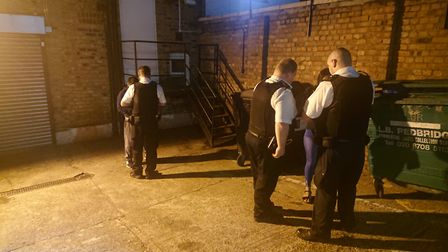 A prostitute and a client were caught in an alley. Picture: Ellena Cruse