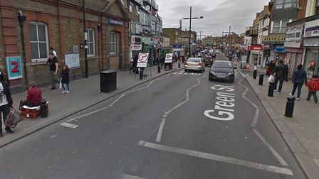 The stabbing took place close to Upton Park train station. Pic: Google