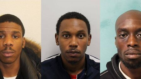 Legemah, Samuels and Luck attacked former boxer Michael Watson. Pic: Met Police