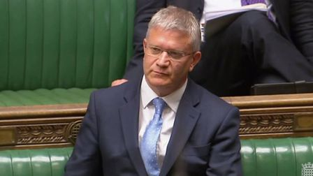 Romford MP Andrew Rosindell in Parliament. Picture: Parliament.TV