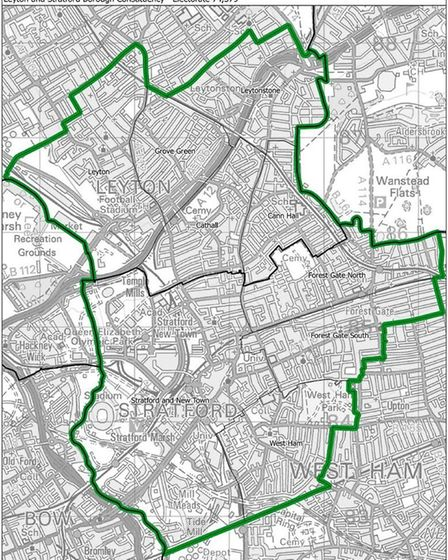 How the Leyton and Stratford constituency would look. Pic: ONS