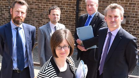 Solicitors from Cole Bentley and Co, Norton Peskett, Breydons and Powleys campaigning against the po