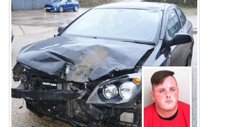 Robert Clarke has been jailed for three and a half years after crashing into two motorbikes on New Y