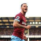 West Ham United's Marko Arnautovic celebrates scoring his side's third goal of the game during the P