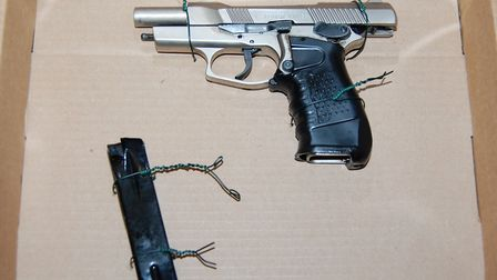 Police found Walters with this gun. Pic:Met Police