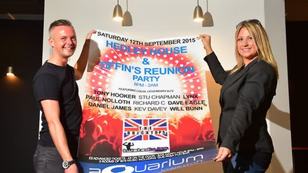 Kelly Eade and Dave Eagle have organised a 90's event at the aquarium, Lowestoft