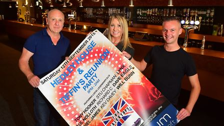 Kelly Eade, David Scott and Dave Eagle have organised a 90's event at the aquarium, Lowestoft