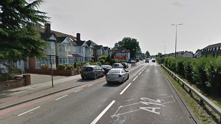Teran was stopped by officers in Eastern Avenue, Gants Hill. Photo: Google Maps