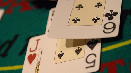 Generic image of gambling at a casino. Black Jack The Grosvenor Casino on the golden mile in Great