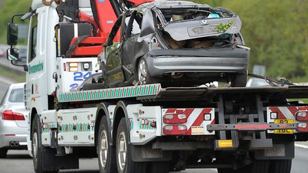 A stock image of a car damaged in a crash. Picture PA/Tim Ireland