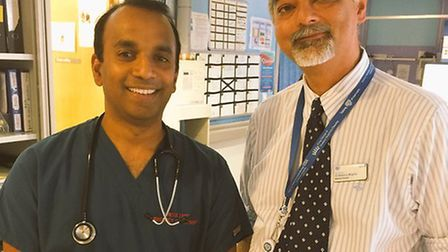 Medical director Nadeem Moghal, right, has now left BHRUT on secondment.