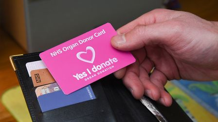 The new pink organ donor card. Photo: NHS Blood and Transplant