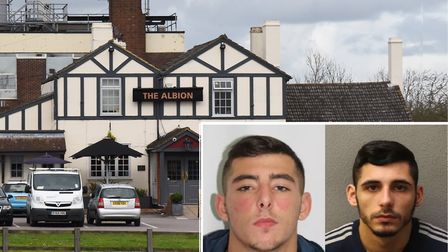 Two brothers have been jailed after stabbing a man at the Albion Pub in Rainham