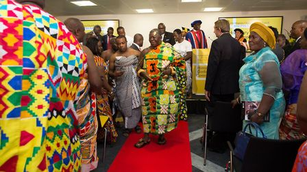 His Majesty Otumfuo Osei Tutu II, King of the Ashanti. Picture: David Harrison/UEL